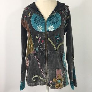 Rising International Long Jacket Hoodie Size Med.